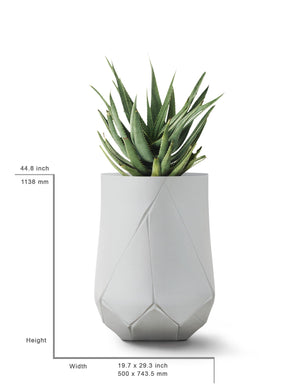 kanju interiors bhaca planter andile dyalvane fine art scarification sculpture statement plant pot garden interior exterior indoor outdoor black white gray charcoal glass reinforced concrete GRC self watering