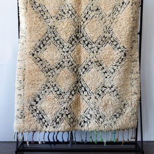 kanju interiors vintage moroccan rug shag berber diamond print plush colored fringe neutral decor carpet hand woven accent area living bed room