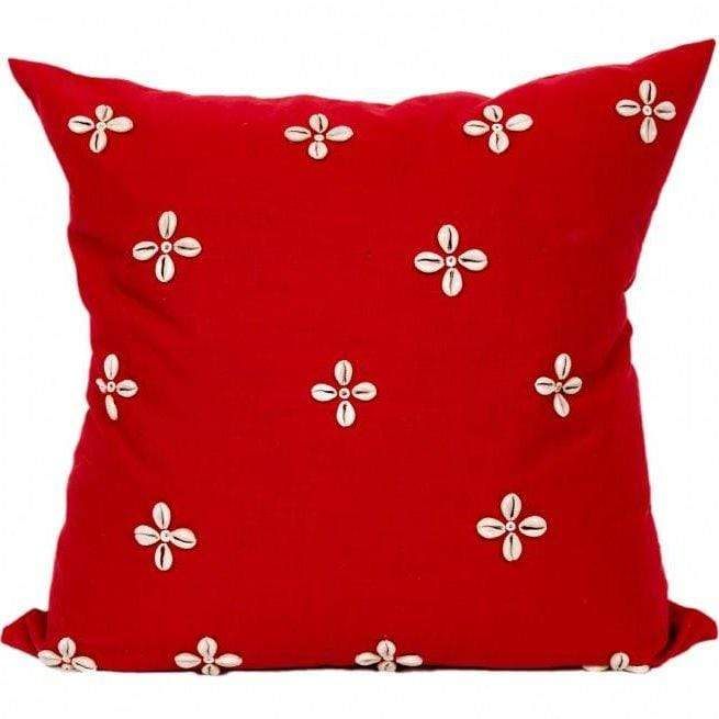 Swahili Flower Trade Bead Pillow
