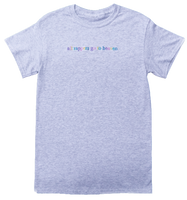 """All Rappers Go To Heaven"" Pastel Grey T-Shirt"
