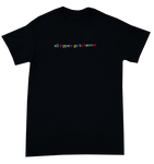"""All Rappers Go To Heaven"" Black TV T-Shirt"