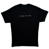 """All Rappers Go To Heaven"" Black T-Shirt"