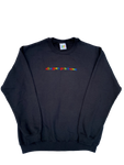 """All Rappers Go To Heaven"" Black Crewneck"
