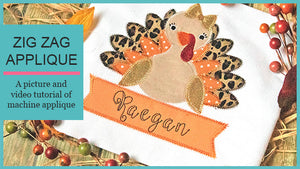 How to Applique - Embroidery Boutique Zigzag Applique Turkey