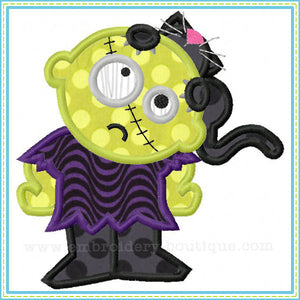 Zombie Cat Applique - embroidery-boutique