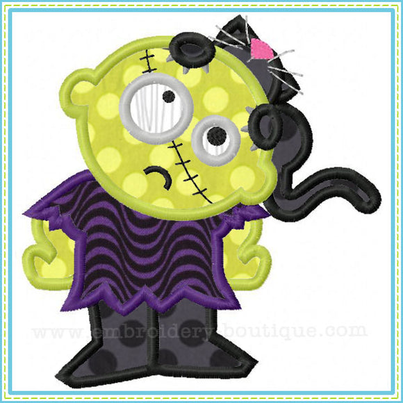 Zombie Cat Applique, Applique