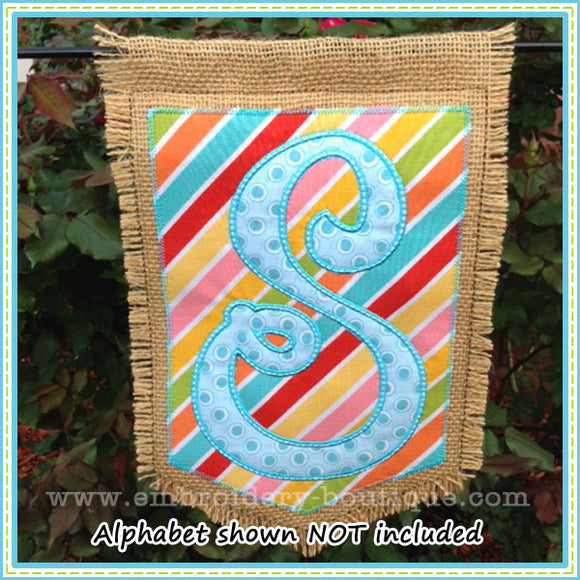 Layered Garden Flag, Applique
