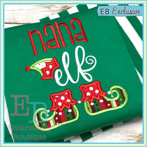 Nana Elf Applique - embroidery-boutique