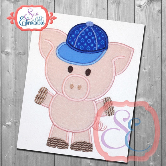 Piggy Boy Applique