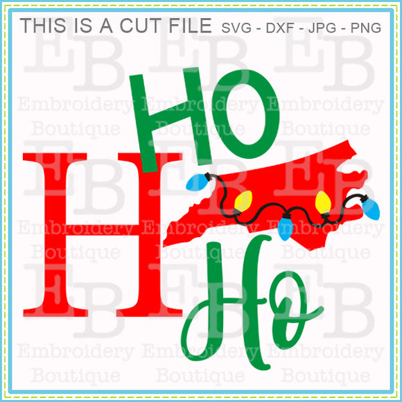 Ho Ho Ho North Carolina SVG, SVG Cut Files