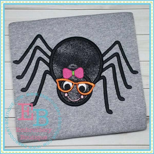 Spider Girl with Glasses Applique