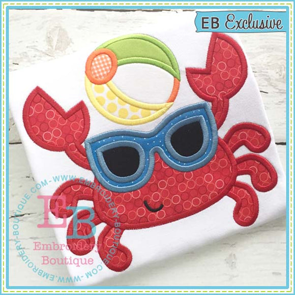 Beach Crab Applique, Applique