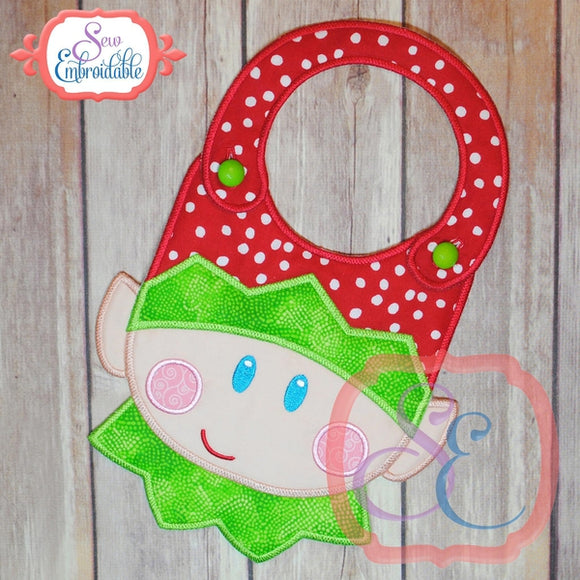 ITH Elf Face Bib - embroidery-boutique