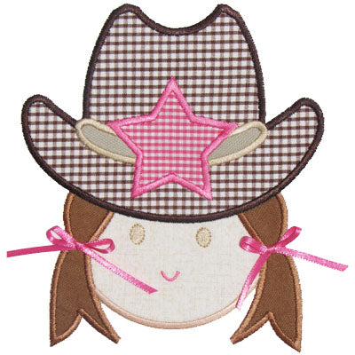Cowgirl Applique - embroidery-boutique