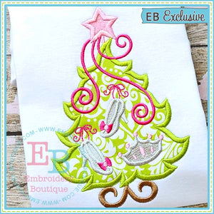 Princess Tree Applique - embroidery-boutique