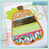 Aztec Pumpkin Applique, Applique