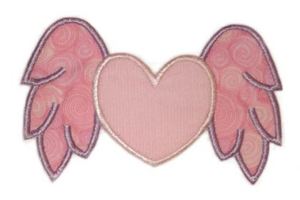 Heart with Wings Applique - embroidery-boutique