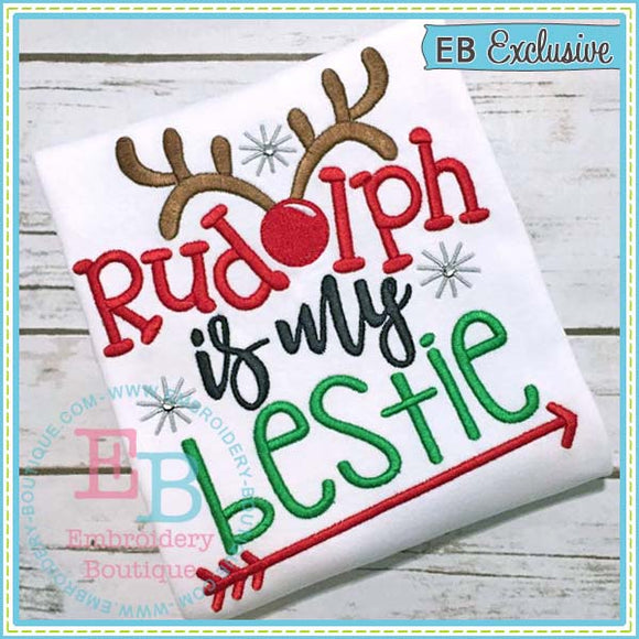 Rudolph Bestie Embroidery Design