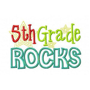 Fifth Grade Rocks, Applique