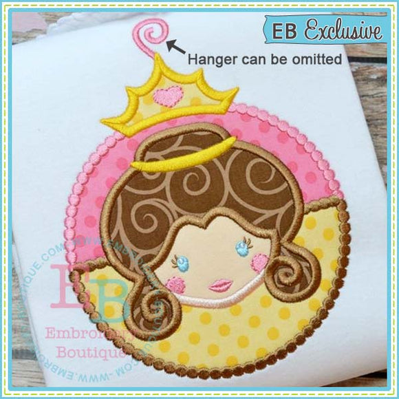 Princess 8 Ornament Applique - embroidery-boutique