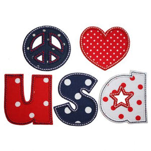 Peace Love USA Applique