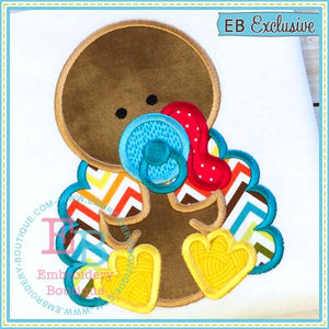 Baby Boy Turkey Applique, Applique