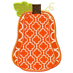 Tall Pumpkin Applique - embroidery-boutique