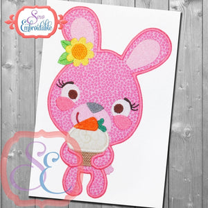 Bunny with Cupcake Applique, Applique