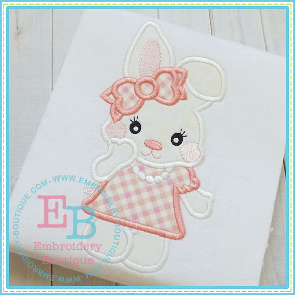 Bunny Girl Applique - embroidery-boutique