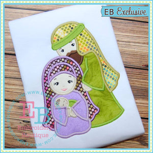 Mary and Joseph Applique - embroidery-boutique