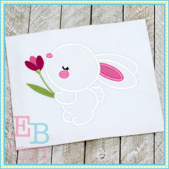Bunny Tulip Applique, Applique