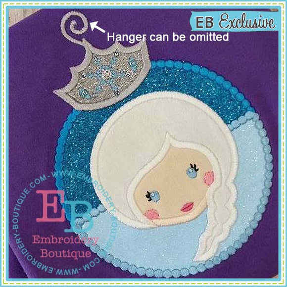 Princess 2 Ornament Applique, Applique