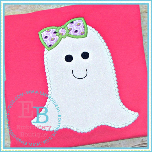 Dotted Ghost Applique, Applique