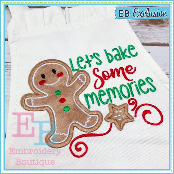 Let's Bake Memories Applique, Applique