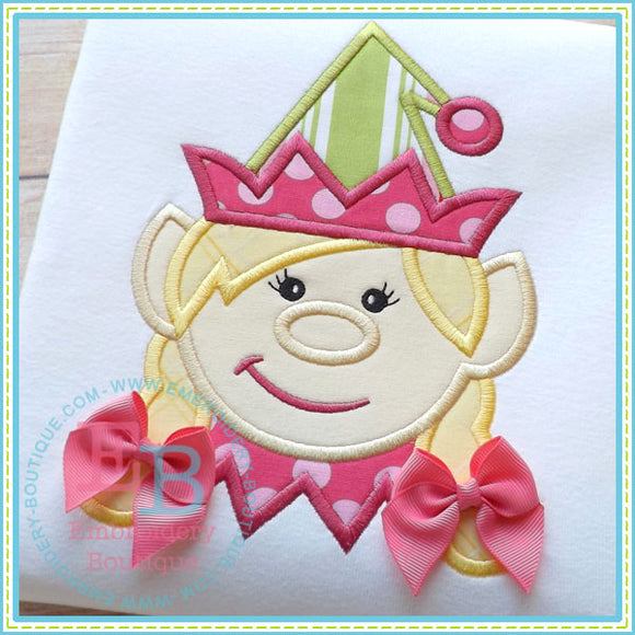 Girl Elf Applique - embroidery-boutique