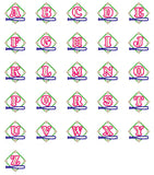 Baseball Patch Alphabet - embroidery-boutique