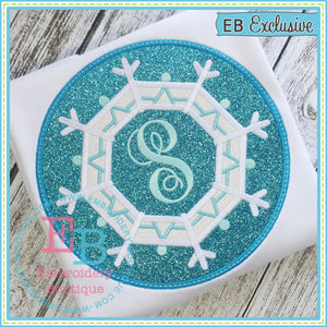 Snowflake Patch Applique - embroidery-boutique
