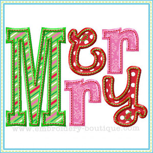 Merry Applique - embroidery-boutique