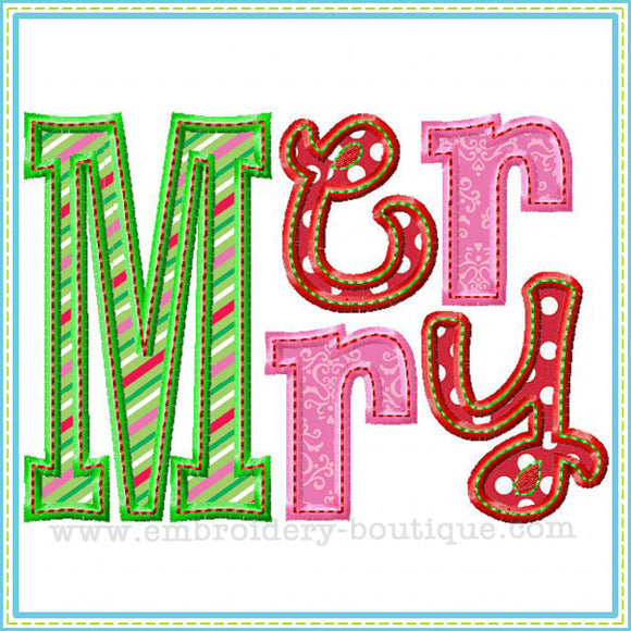 Merry Applique