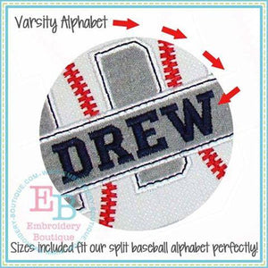 Satin Varsity Embroidery Font, Embroidery Font