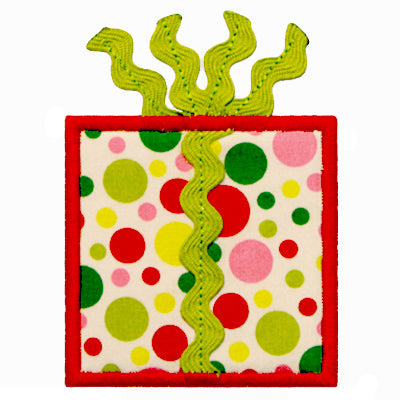 Ric Rac Present Applique - embroidery-boutique