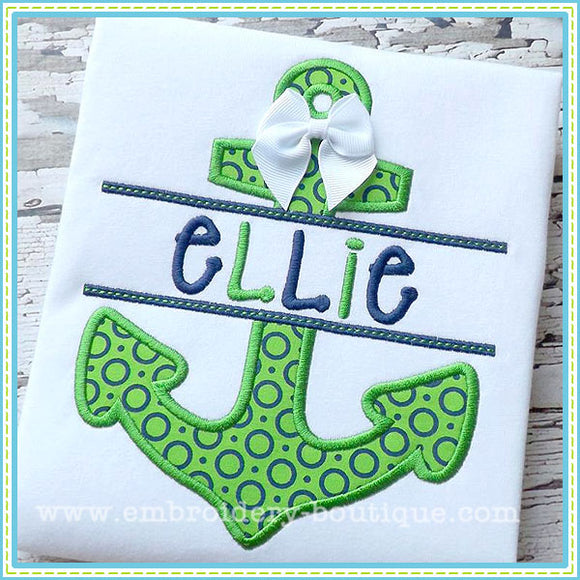 Split Anchor Applique, Applique