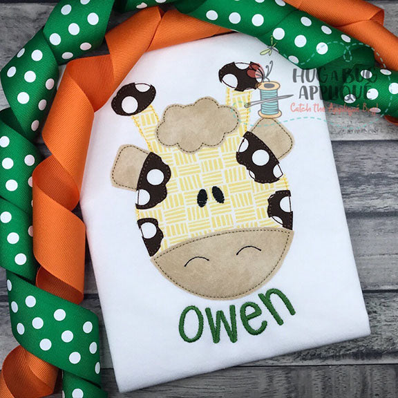 Giraffe Bean Stitch Applique