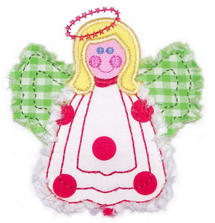 Raggy Angel Applique - embroidery-boutique