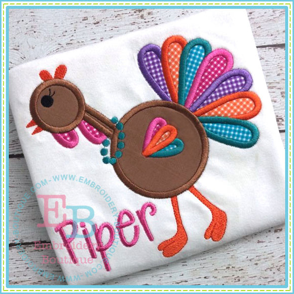 Funky Turkey Applique - embroidery-boutique