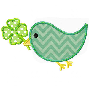 St Patty's Day Bird Applique - embroidery-boutique