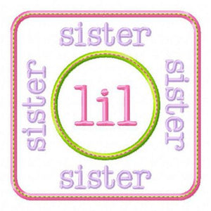 Lil Sister Patch - embroidery-boutique