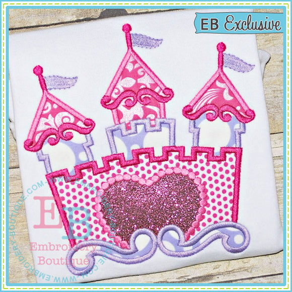 Princess Castle Applique, Applique
