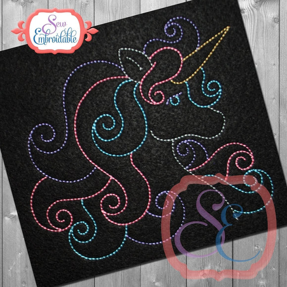 Unicorn Bean Stitch Design - embroidery-boutique