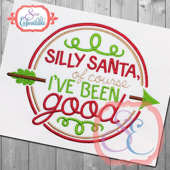 Silly Santa Embroidery Design
